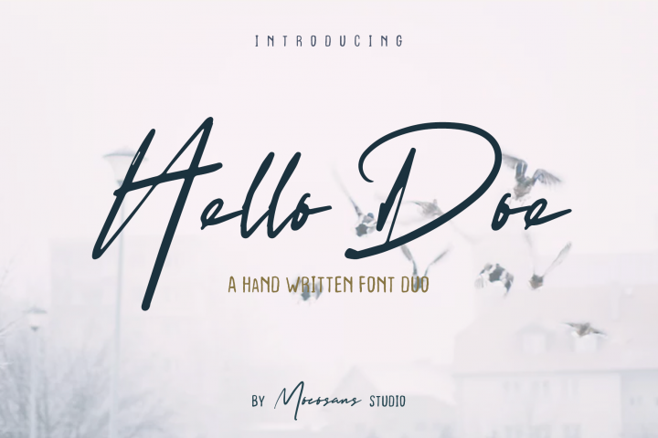 Hello Doe - Handwritten Font Duo