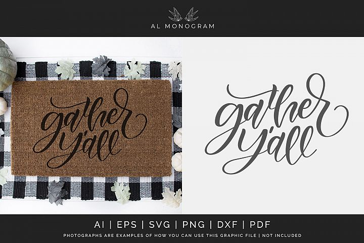 Gather Yall SVG Digital Laser Cut File