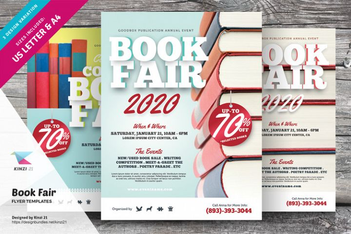 Book Fair Flyer Templates