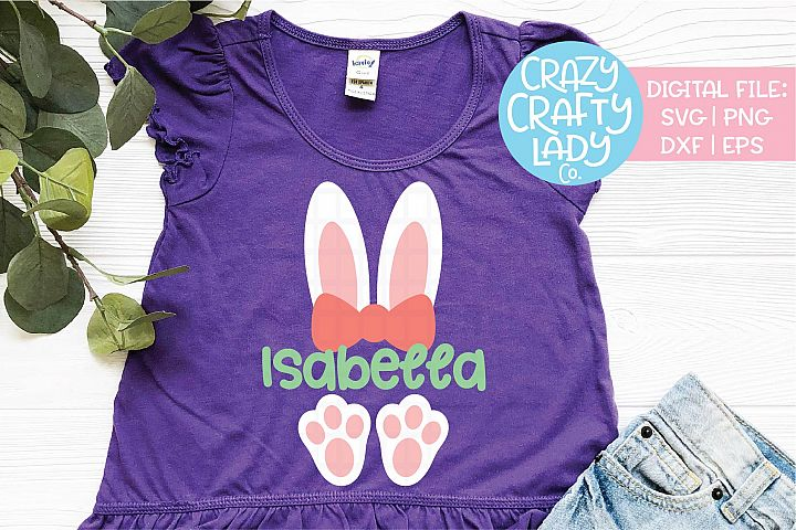 Girl Easter Bunny Ears & Feet SVG DXF EPS PNG Cut File