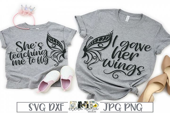 Mommy and Me SVG File | Matching Shirts Svg Butterfly Svg