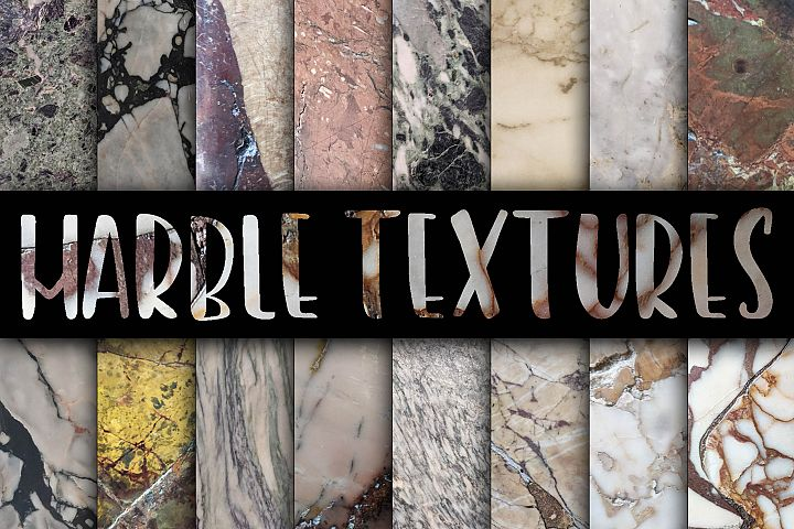 Real Marble Textures Digital Papers