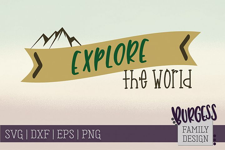 Explore the world | SVG DXF EPS PNG
