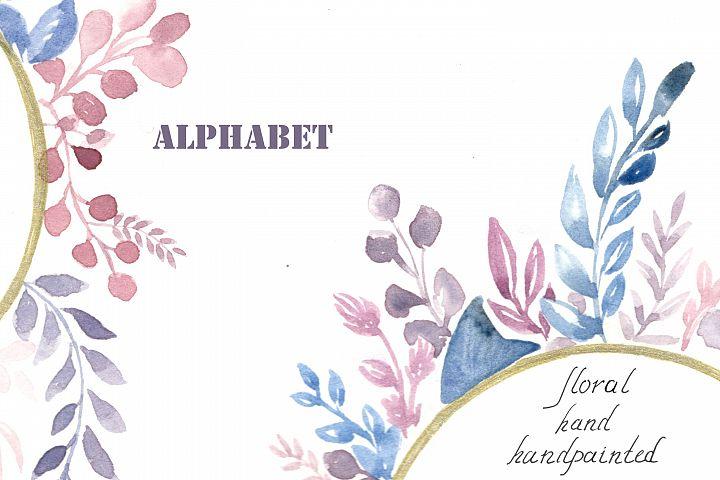 Watercolor alphabet, PNG clipart