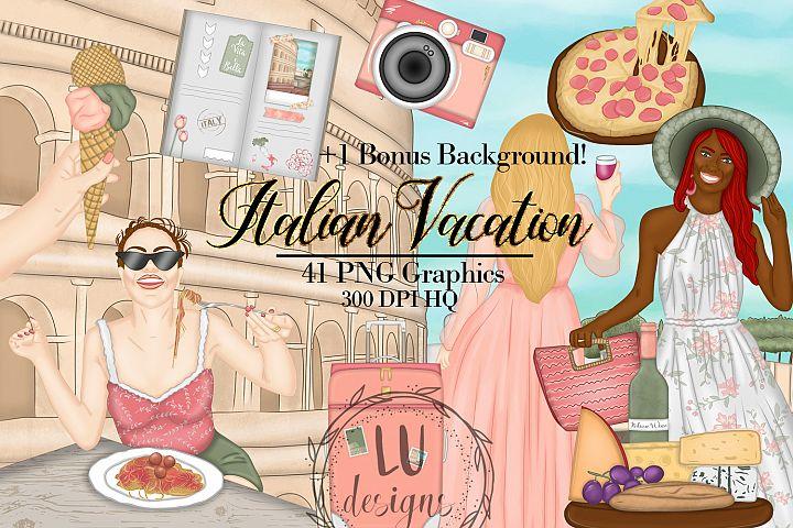 Italy Clipart, Italian Vacation Clipart, Travel Graphics