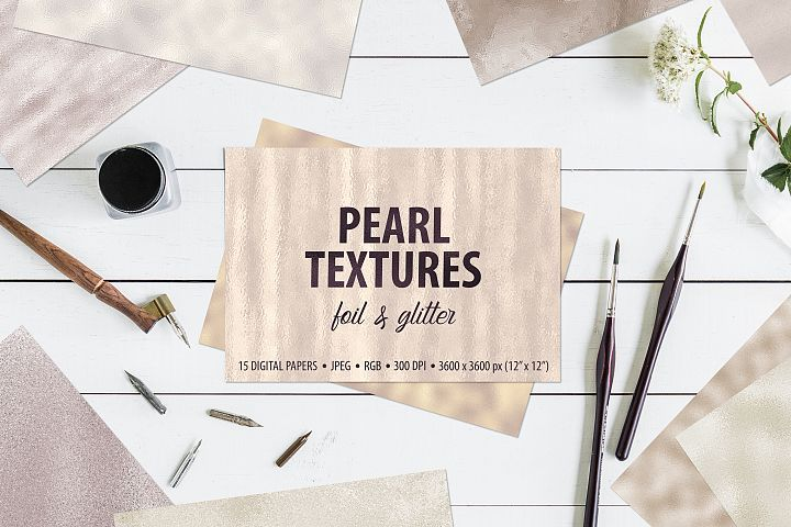 Pearl Foil and Glitter Textures - Metallic Backgrounds example