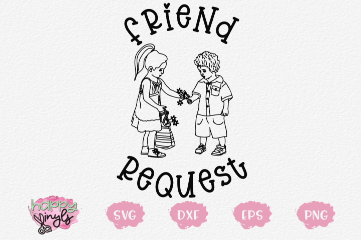 Friend Request - A Whimsical SVG