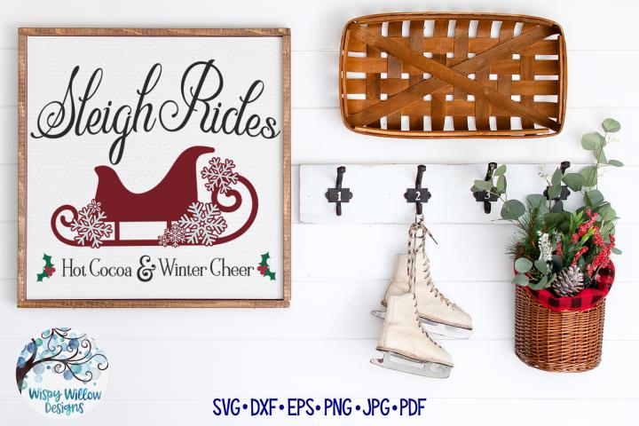 Sleigh Rides SVG |Winter SVG Cut File