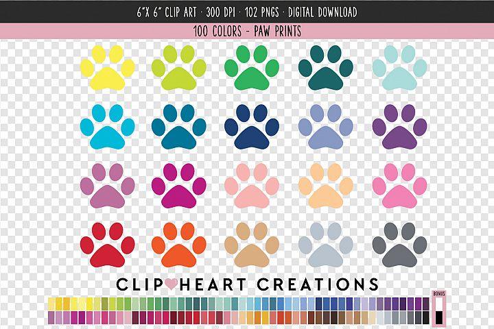 Paw print Clip Art - 100 Clip Art Graphics