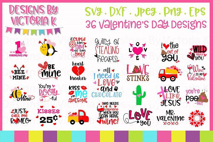 Valentines Day SVG Cut Files