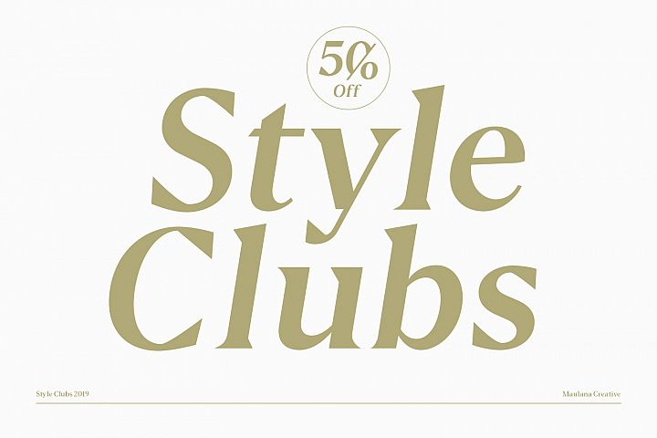 Style Clubs Serif - 50 OFF