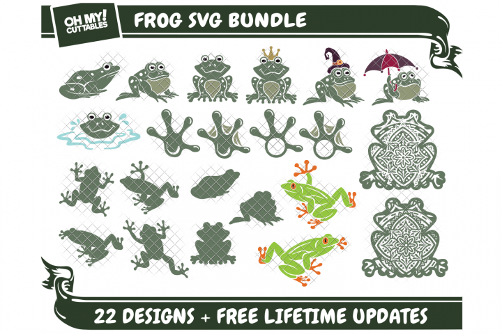 Frog SVG Toad in SVG, DXF, PNG, EPS, JPG