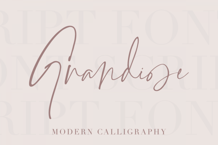 Grandiose - Stylish Signature Font