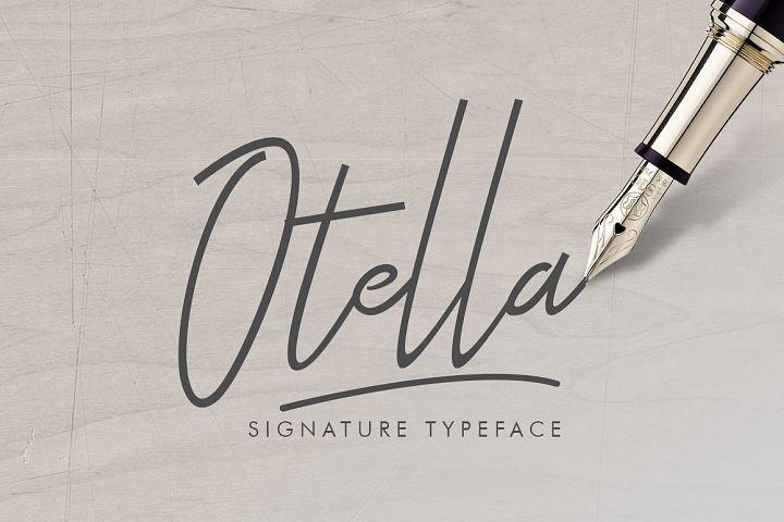 Otella Signature Font