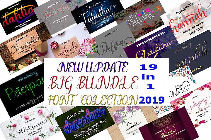 19 In 1 Font Colection 2019 -Bonuss 7 Font