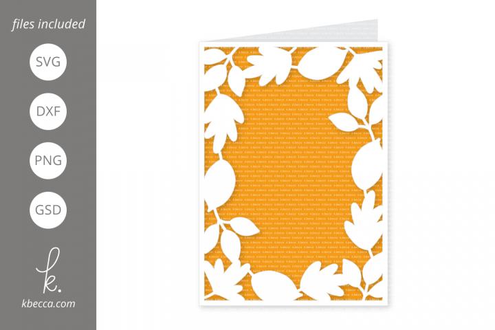 Fall Leaf Frame Card SVG Files - A2 & A7
