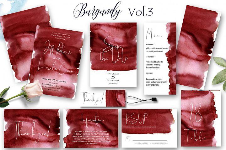 Burgundy Wedding Suit Vol.3