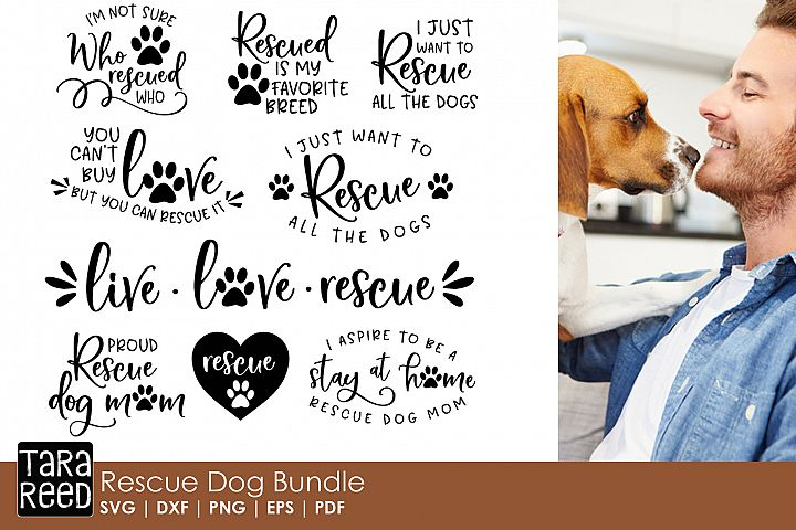 Rescue Dog SVG and Cut Files for Crafters