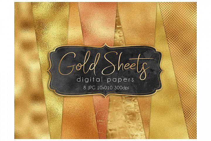 Gold Foil Textures - Gold Digital Paper