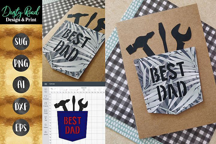SVG FATHERS DAY CARD - paper craft Cricut
