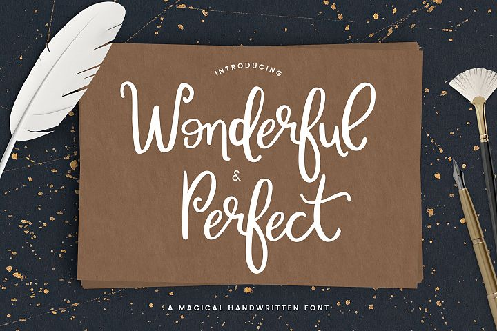 Wonderful & Perfect - A Script Font