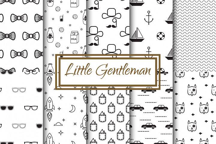 Little Gentleman Seamless Patterns