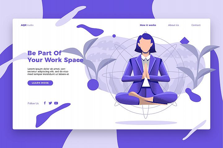 Work Space - Banner & Landing Page