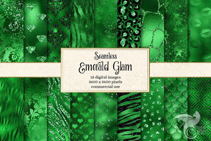 Emerald Glam Textures