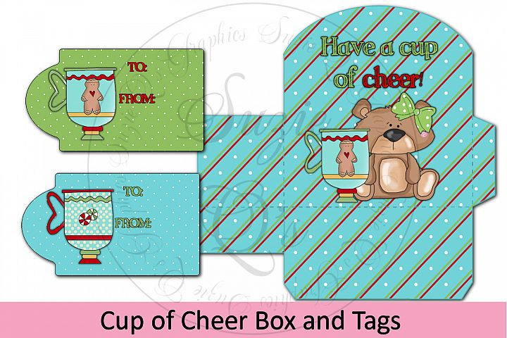 Cup of Cheer Box and Tag - includes insert to hold 2 K-cups