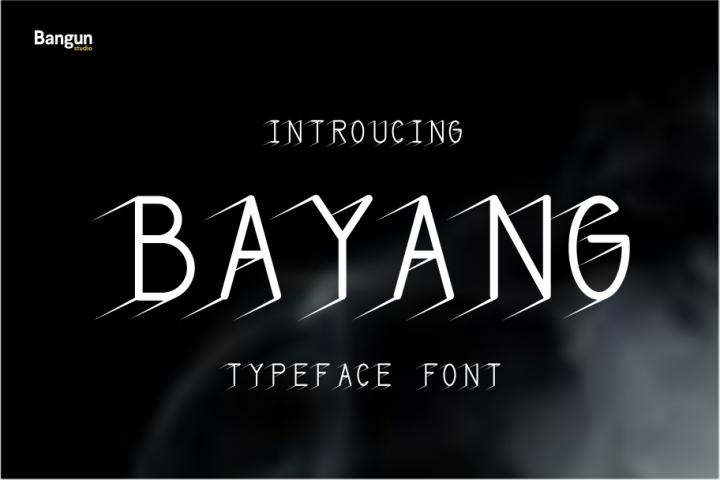 Bayangan font