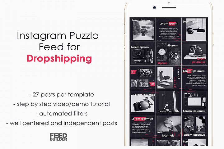 Instagram Puzzle Feed for DROPSHIPPING