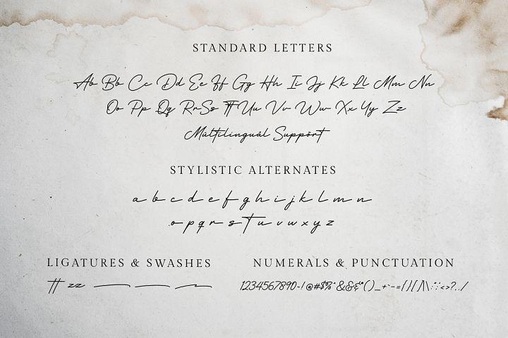 Hertine - Monoline Signature example image 8