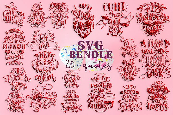 Valentine svg bundle Love SVG for t-shirt Design valentines