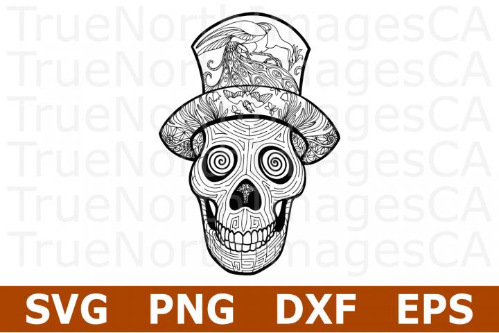 Zentangle Skull - A Halloween SVG Cut File