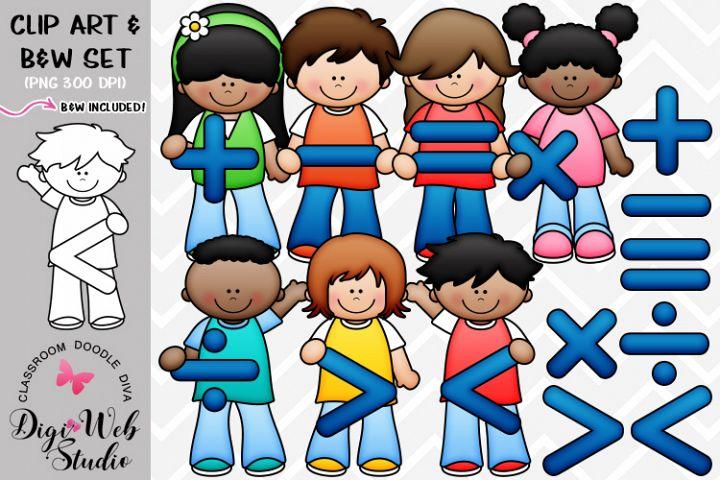 Clip Art / Illustrations - Math Symbols Kids