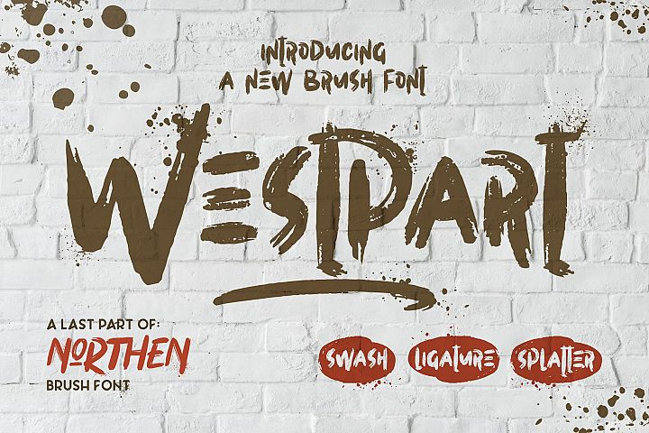WESTPART - Brush Fonts