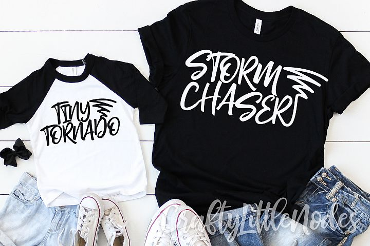 Storm Chaser & Tiny Tornado Mother Child Duo Shirt SVG