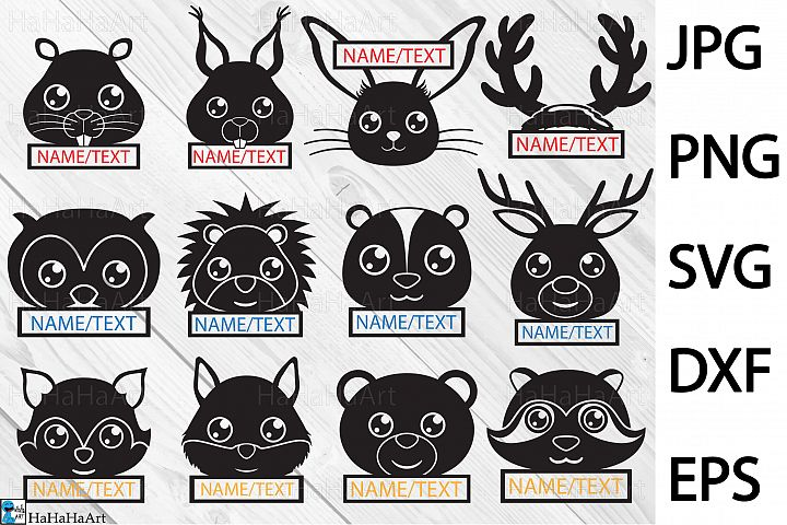 Forest Animals - Clip art / Cutting Files 400c