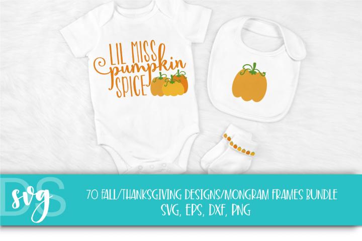 Fall, Pumpkin, Halloween, SVG, PNG, Thanksgiving Bundle, example 4