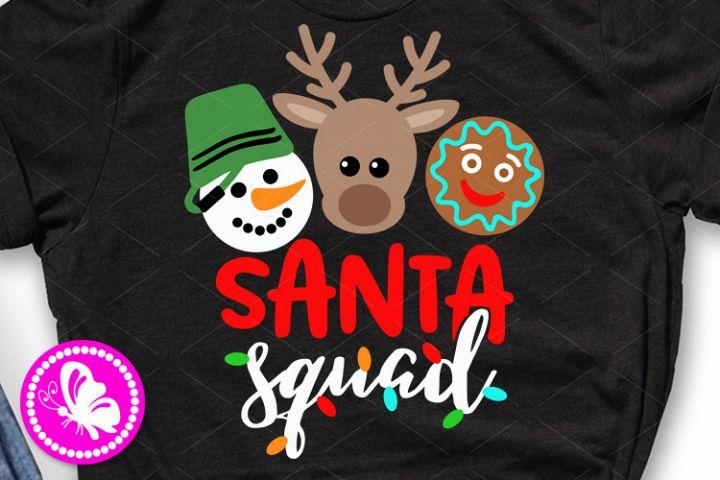 Santa squad Snowman Cookie clipart Christmas reindeer face