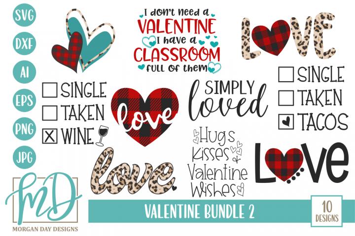 Valentines Day - Leopard - Plaid - Valentine Bundle SVG