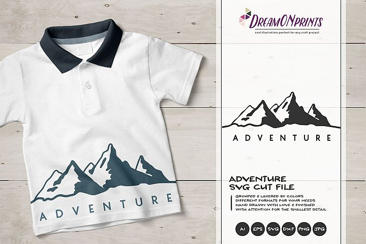 Adventure | Mountain SVG | Travel Illustration