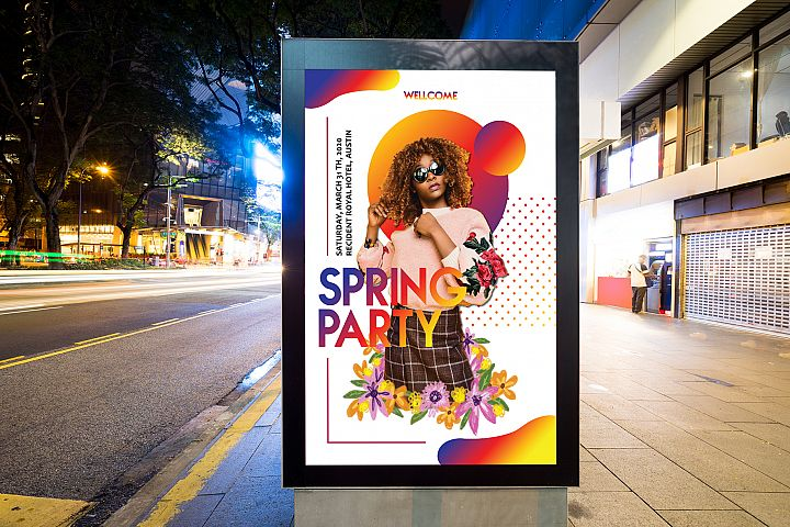 Spring Party Flyers
