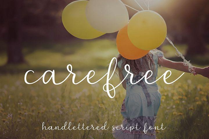 Carefree - A handlettered script font