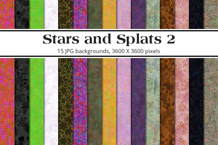 Stars and Splats 2 Background Pack