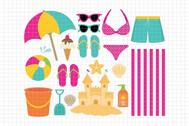 Beach-Digital Clipart LES.CL70B