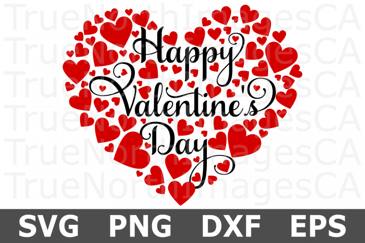 Happy Valentines Day Heart - A Valentine SVG Cut File
