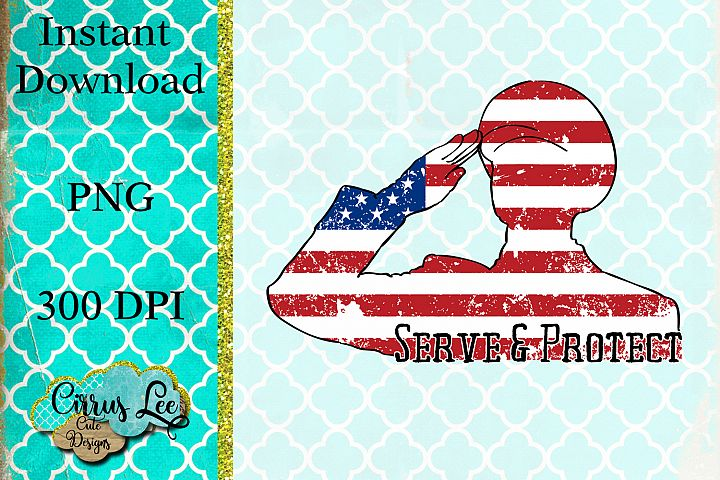 Serve and Protect Sublimation Design/Wall Decor