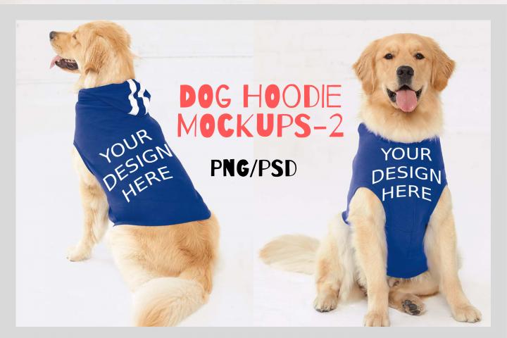 Dog Hoodie Mock Ups - 2|Png&Psd|1080x1458px
