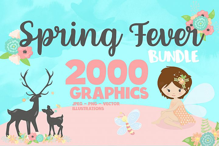 2000 Graphics - MEGA Spring Fever Bundle - 98OFF